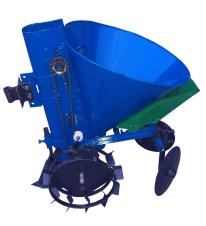 Картофелесажалка мотоблочная ДТЗ КСМ-1ЦУ (цепная с бункером для удобрений, круглая, 20 л.), фото 2
