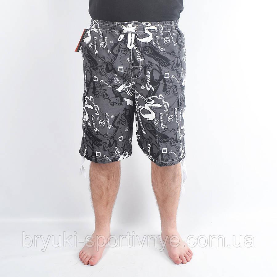 Бриджи мужские пляжные - морской мотив