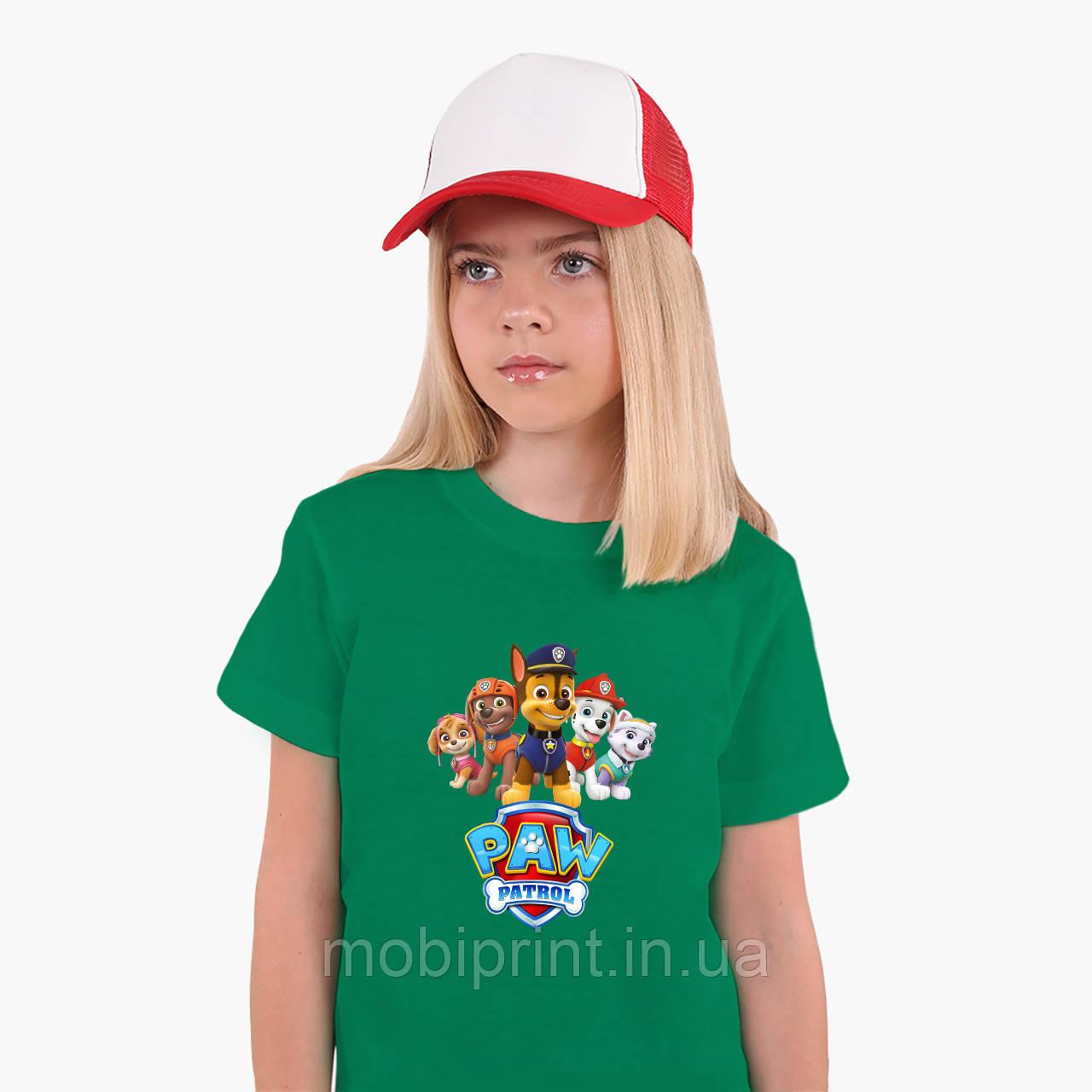 Детская футболка для девочек Щенячий патруль (PAW Patrol) (25186-1608) Зеленый