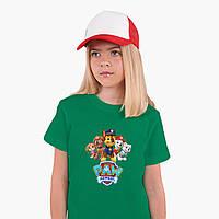Детская футболка для девочек Щенячий патруль (PAW Patrol) (25186-1608) Зеленый, фото 1