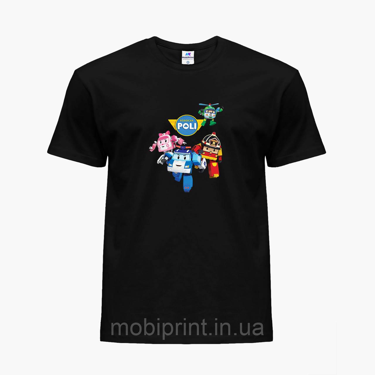 Детская футболка для девочек Робокар Поли (Robocar Poli) (25186-1618) Черный