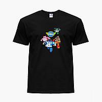 Детская футболка для девочек Робокар Поли (Robocar Poli) (25186-1618) Черный, фото 1