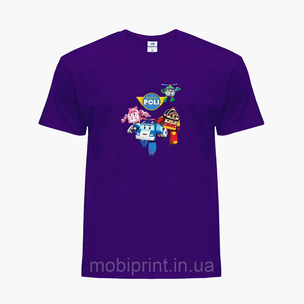 Детская футболка для девочек Робокар Поли (Robocar Poli) (25186-1618) Фиолетовый
