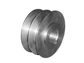 Шкив двухручьевой (наружный диаметр 76 мм, внутренний 20 мм, профиль В), фото 3