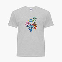 Детская футболка для девочек Робокар Поли (Robocar Poli) (25186-1618) Светло-серый, фото 1
