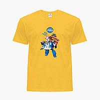 Детская футболка для девочек Робокар Поли (Robocar Poli) (25186-1619) Желтый, фото 1