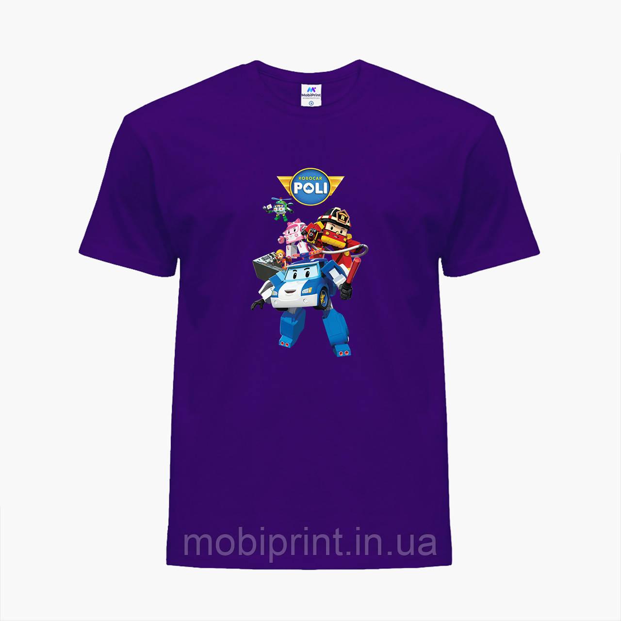 Детская футболка для девочек Робокар Поли (Robocar Poli) (25186-1619) Фиолетовый