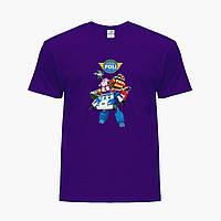 Детская футболка для девочек Робокар Поли (Robocar Poli) (25186-1619) Фиолетовый, фото 1