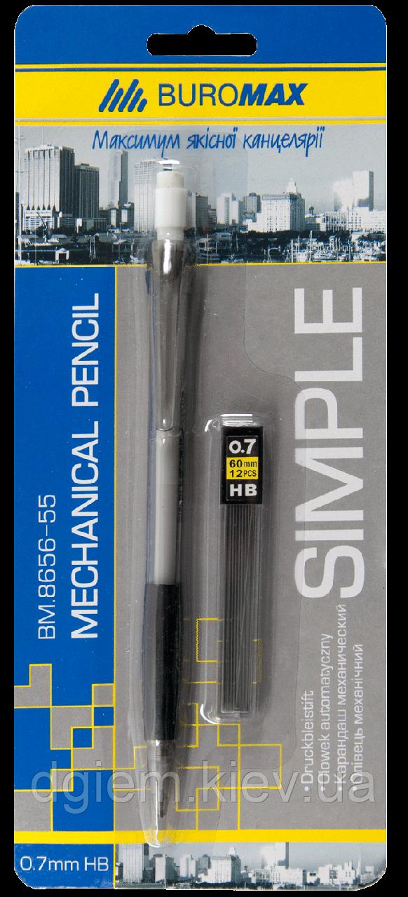 Карандаш механический SIMPLE 0,7мм + сменные стержни