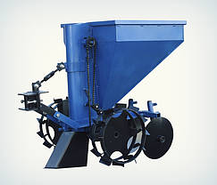 Картофелесажалка Премиум для мототрактора (60 л, бункер для удобрений), фото 2