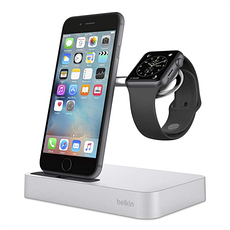 Док-станція Belkin Charge Dock iWatch + iPhone Сріблястий (F8J183vfSLV), фото 2