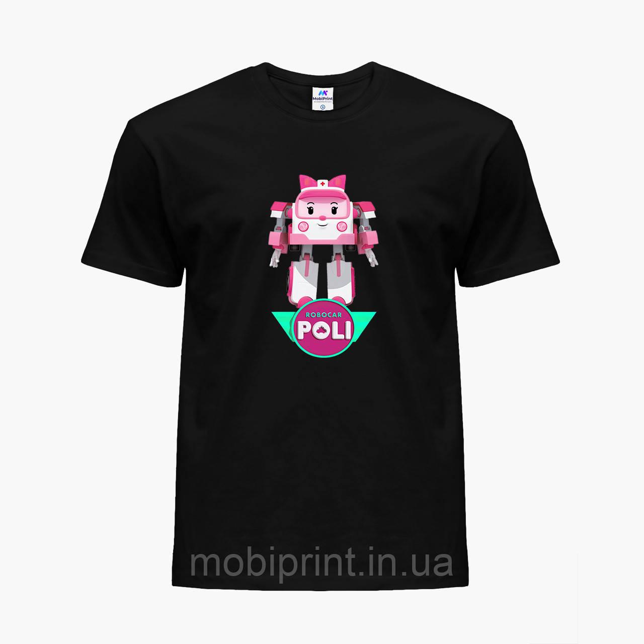 Детская футболка для девочек Робокар Поли (Robocar Poli) (25186-1621) Черный