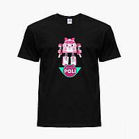 Детская футболка для девочек Робокар Поли (Robocar Poli) (25186-1621) Черный, фото 1
