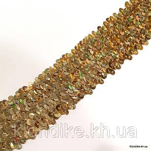 Резинка Трикотажная с Пайетками, 50 мм, Цвет: Светло-коричневый (1 метр)