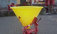 Разбрасыватель удобрений Jar Met 500 л (пластик, нержавеющий диск) Польша, фото 2