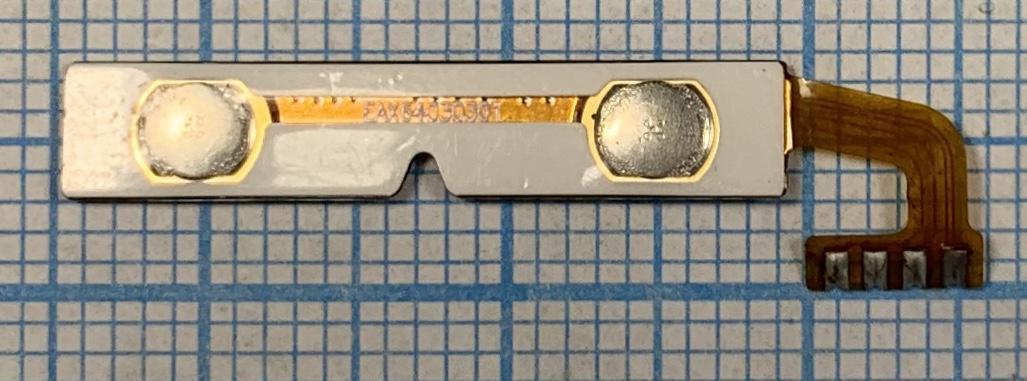 Шлейф кнопок для LG T500 Original б/в