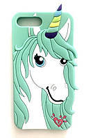 Чехол силиконовый Единорог-Конь для IPhone 5/5S/SE Mint (айфон 5/5с/се)