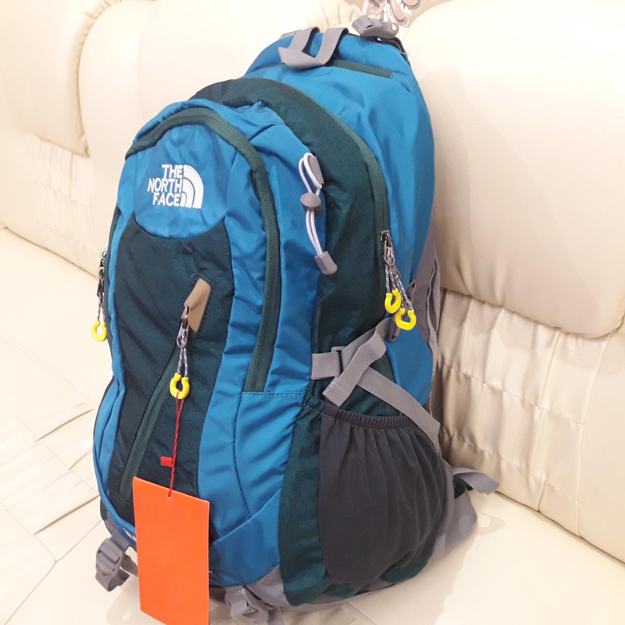 Повседневный спортивный рюкзак The North Face Blue 45 литров стильный