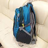 Повседневный спортивный рюкзак The North Face Blue 45 литров стильный, фото 3