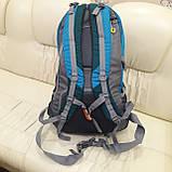 Повседневный спортивный рюкзак The North Face Blue 45 литров стильный, фото 5