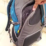 Повседневный спортивный рюкзак The North Face Blue 45 литров стильный, фото 8