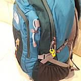 Повседневный спортивный рюкзак The North Face Blue 45 литров стильный, фото 9