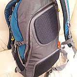 Повседневный спортивный рюкзак The North Face Blue 45 литров стильный, фото 10