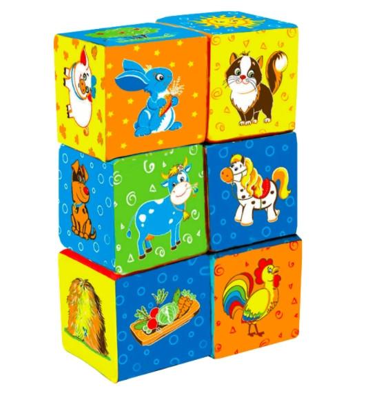 Кубики мягкие Животные
