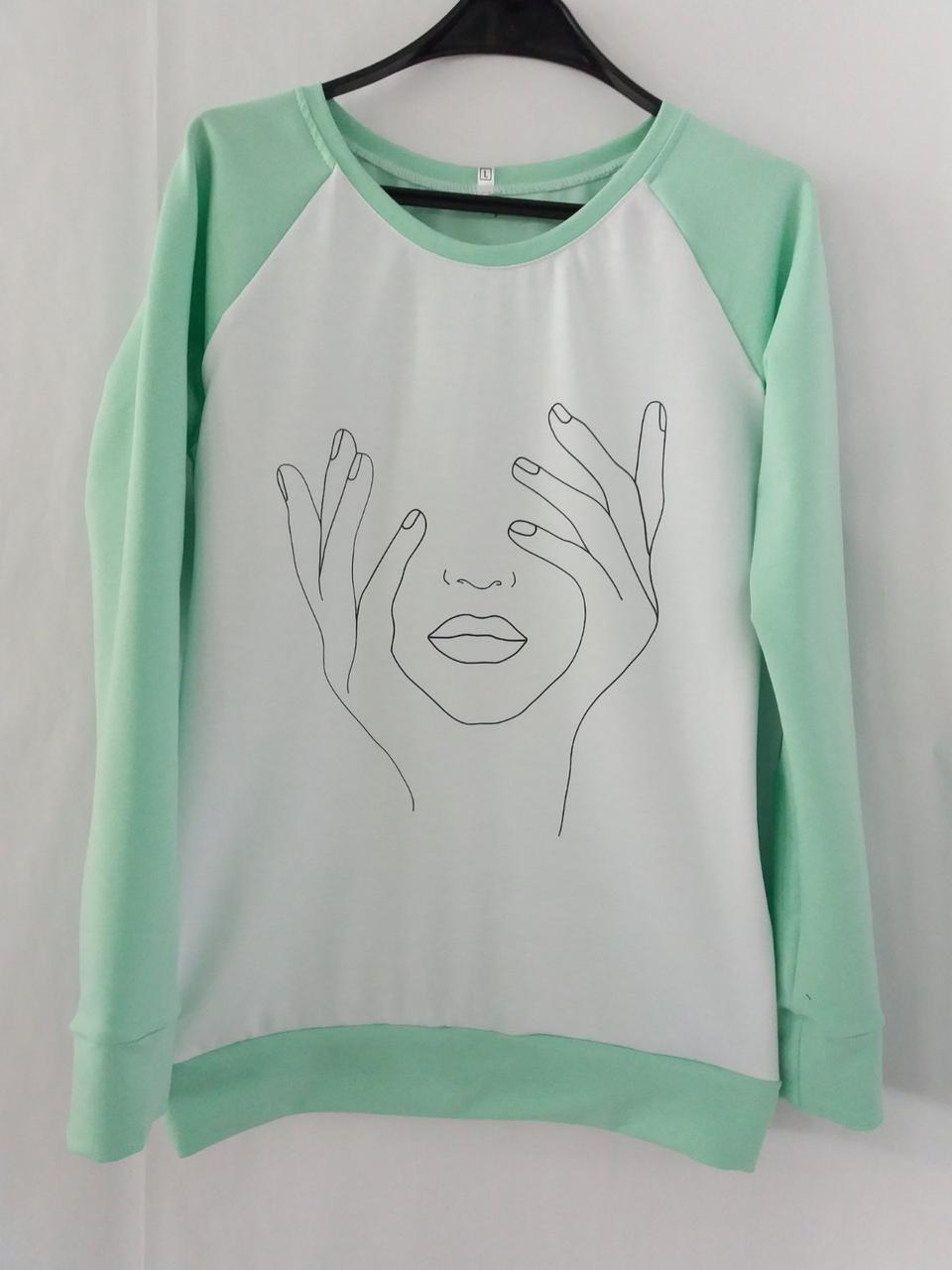 Модные женские свитшоты с принтами от производителя оптом и в розницу