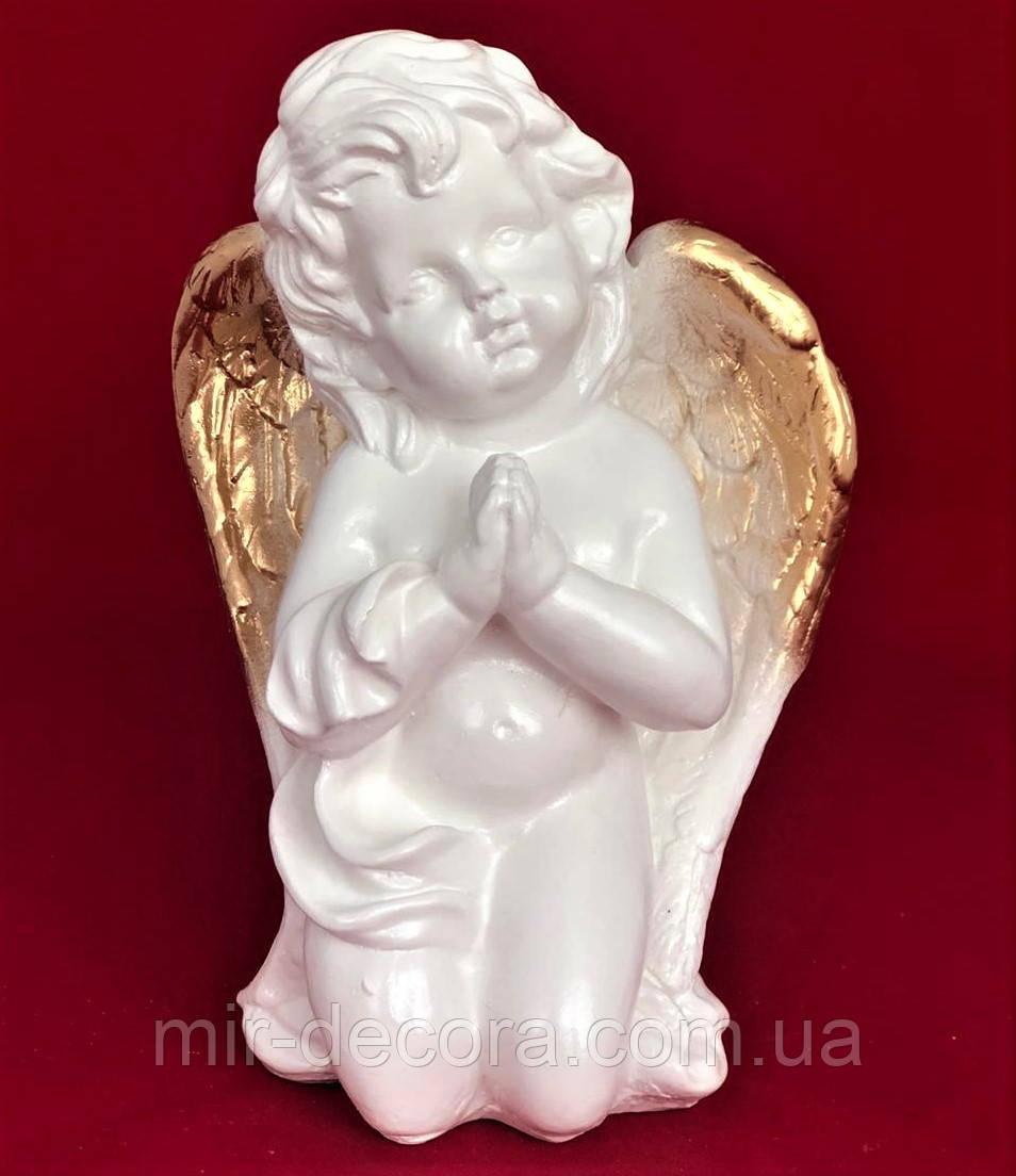 Статуэтка декоративная Ангел Хранитель, золото, 21 см