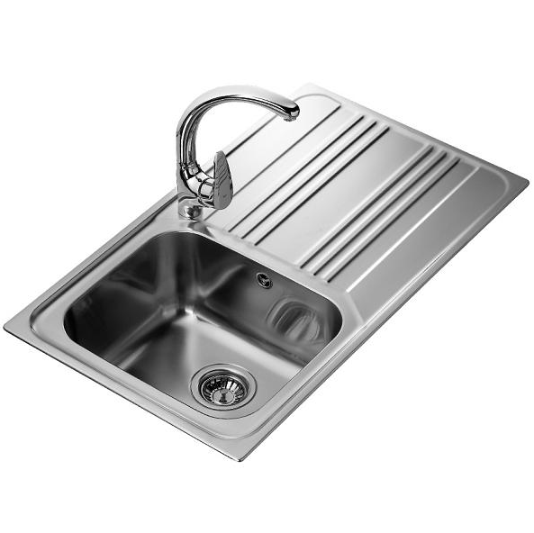 Мойка кухонная Teka Cosmos 1B 1D (10122010) из нержавеющей стали полированная (1,0 мм)