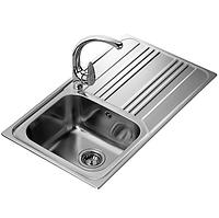Мойка кухонная Teka Cosmos 1B 1D (10122010) из нержавеющей стали полированная (1,0 мм), фото 1