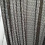 Комплект штори з тюллю Sarmasik. Тканина: турецька сітка на фатине. Колір - Місячна ніч, фото 3