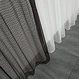 Комплект штори з тюллю Sarmasik. Тканина: турецька сітка на фатине. Колір - Місячна ніч, фото 5
