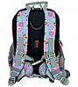 Рюкзак школьный ортопедический Dr. Kong Z293 голубой с розовыми цветами, фото 2