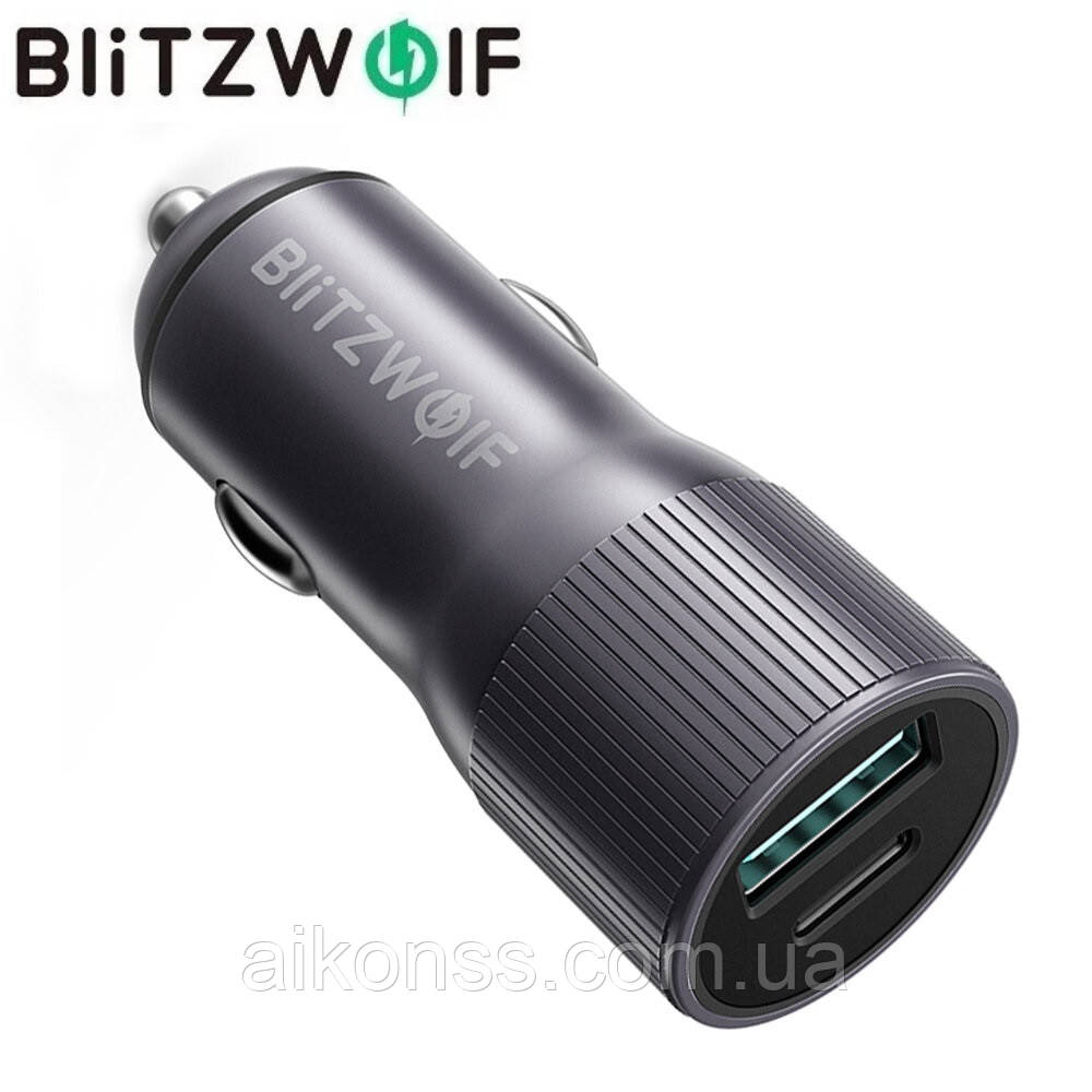 BlitzWolf® BW-SD4 36 Вт QC3.0 PD2.0 Type C + USB-порты мощное Mini Авто Зарядное устройство