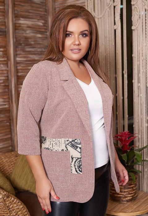 Пиджак женский в большом размере Размеры: 50.52.54.56.