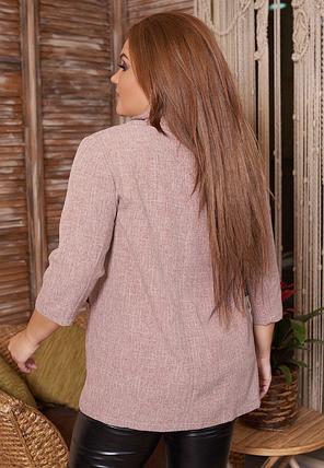 Пиджак женский в большом размере Размеры: 50.52.54.56., фото 2