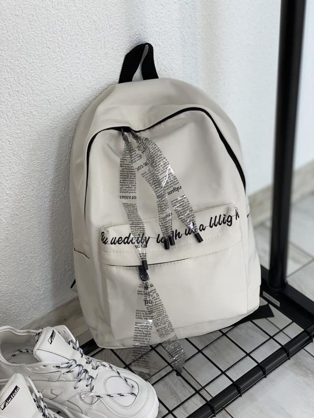 Однотонный рюкзак серый