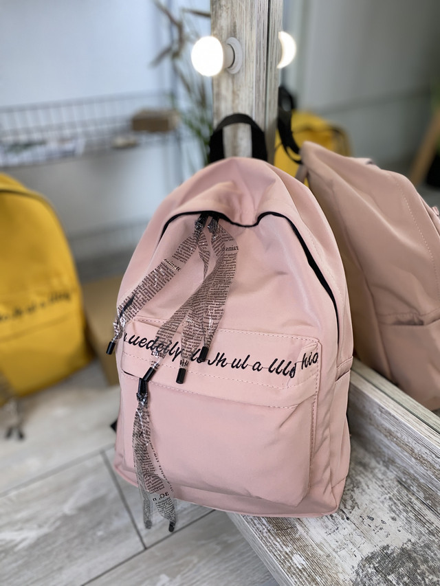 Однотонный рюкзак розовый