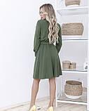 Платье-рубашка цвета хаки с длинными рукавами, фото 3