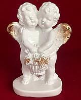 Інтер'єрна статуетка Ангели Пара з кошиком, золото