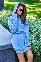 """Спортивное платье-худи Jadone Fashion """"Виола"""" трехнитка петля (4 цвета, р.S-ХL)"""