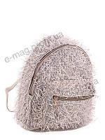 Рюкзак бежевый пушистый David Polo, фото 1