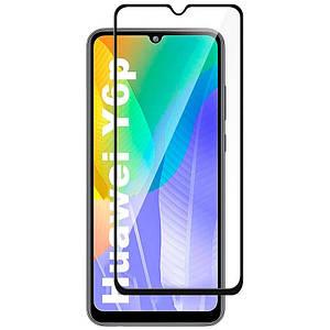 Захисне скло 5D для Huawei Y6p 9a на весь екран повна проклейка захисне скло на Хуавей у6п 2020 чорне