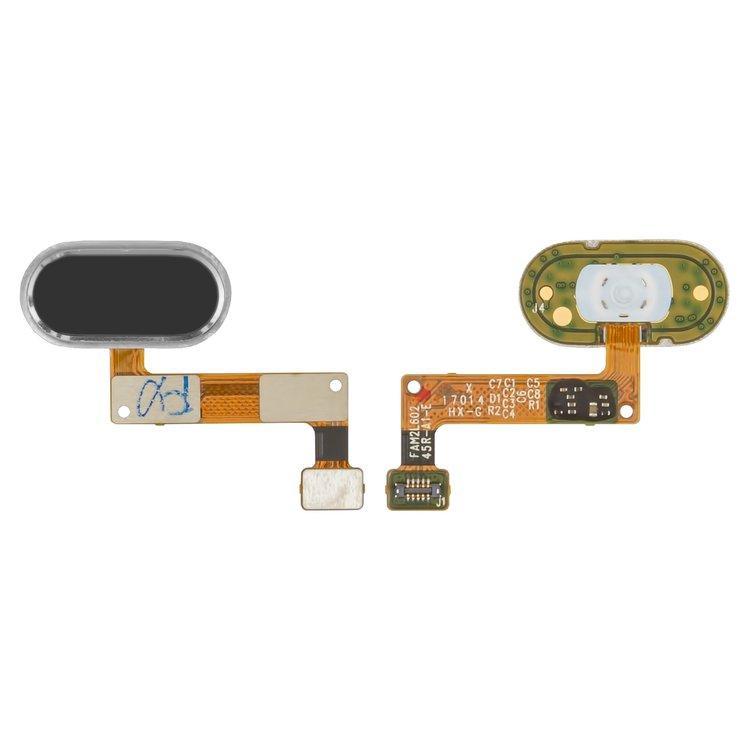 Шлейф для Meizu M5 Note с кнопкой меню (Home) черный