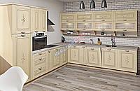 Кутова кухня Кантрі з вінтажними малюнками