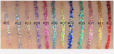 HANDAIYAN цветная блестящая с блестками жидкая подводка для глаз (цена за 1 штуку) макияж, фото 3