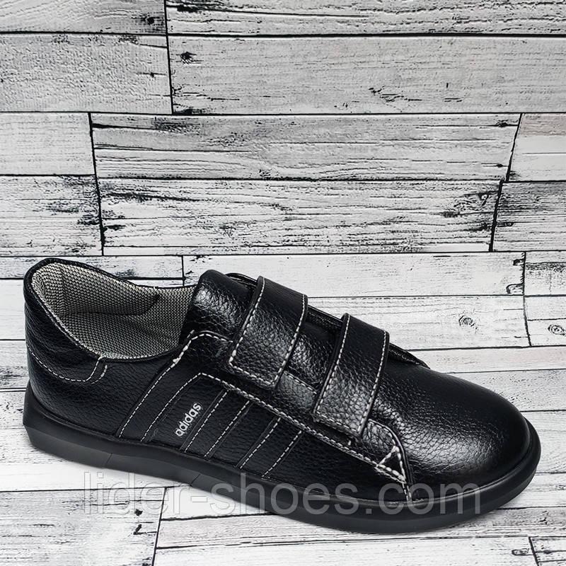 Женские кроссовки на липучках черные