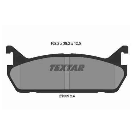 Гальмівні колодки задні Mazda 323 1.9 I 16V 89-94 TEXTAR